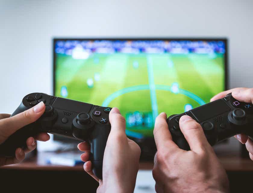 Logos für Computerspieleläden
