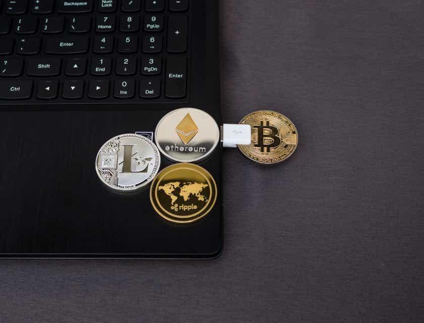 Logos für Händler von Kryptowährungen